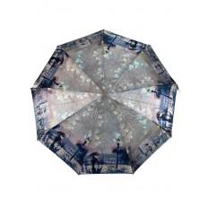 На фото 4 - Зонт женский-полуавтомат с живописным принтом, мультицвет
