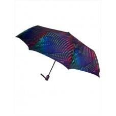 На фото 1 - Женский зонт-полуавтомат с разноцветным принтом, мультицвет