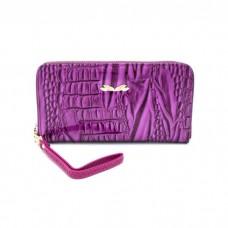На фото 1 - Портмоне из искусственной кожи, цвет фиолетовый