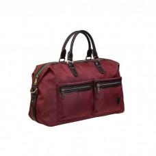 На фото 1 - Сумка багажная текстильная, цвет бордо