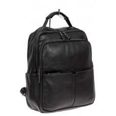 На фото 1 - Мужской рюкзак для ноутбука из искусственной кожи, цвет чёрный