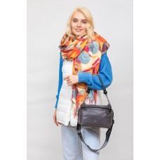На фото 1 - Женская сумка из мягкой искусственной кожи, цвет графит