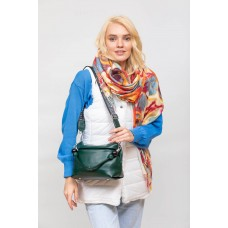 На фото 1 - Женская сумка из мягкой искусственной кожи, цвет зеленый