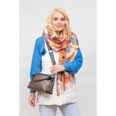На фото 1 - Женская сумка из мягкой искусственной кожи, цвет  коричнево-серый