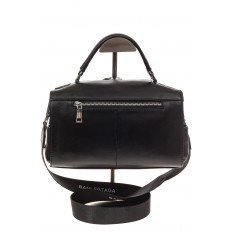 На фото 3 - Женская сумка из натуральной кожи, цвет черный