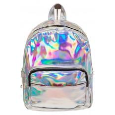 На фото 2 - Рюкзак с зеркальным покрытием из искусственной кожи