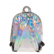 На фото 3 - Рюкзак с зеркальным покрытием из искусственной кожи