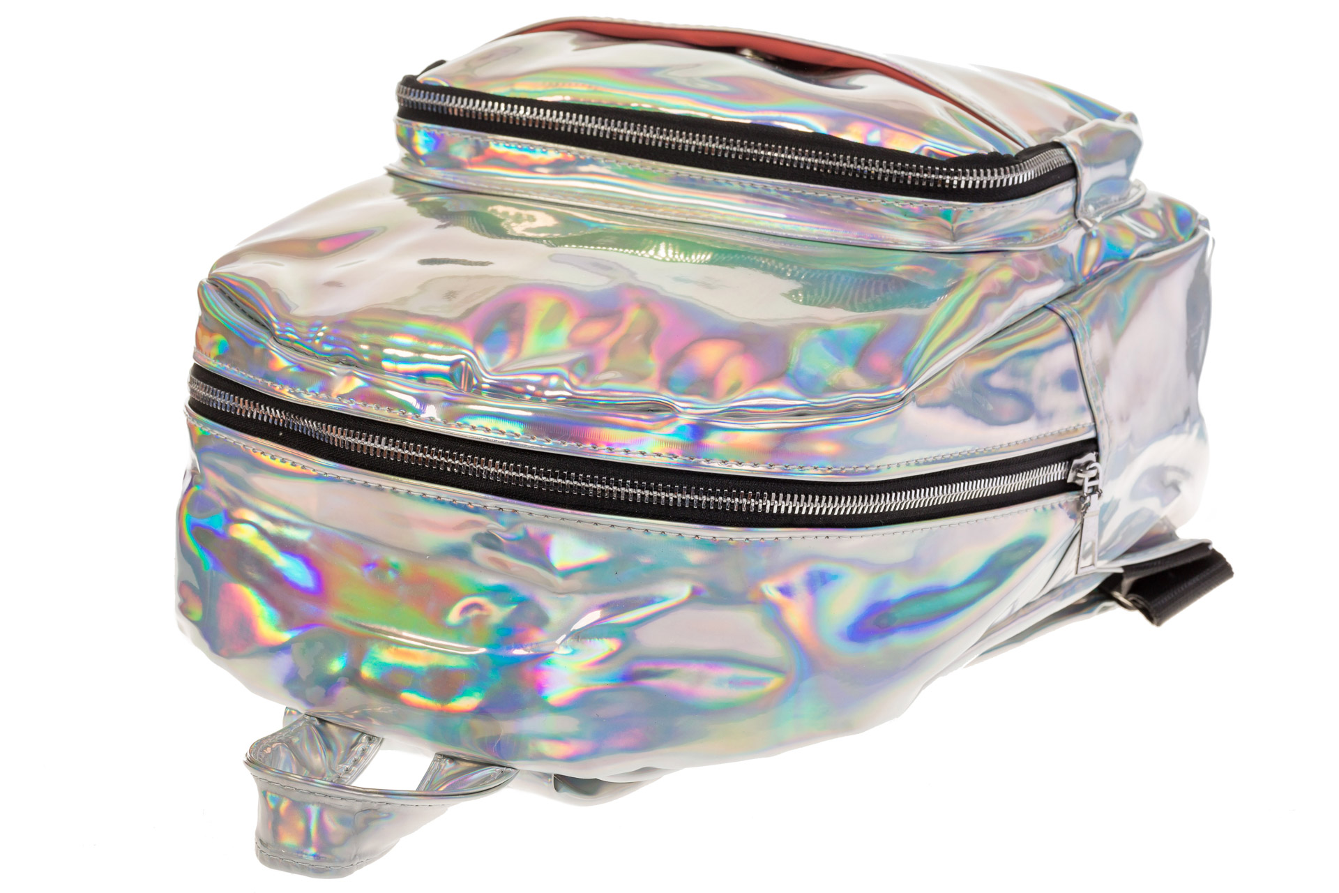 На фото 4 - Рюкзак с зеркальным покрытием из искусственной кожи