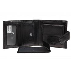 На фото 2 - Мужское портмоне из натуральной кожи, цвет черный
