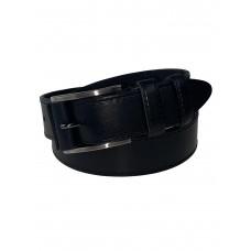 На фото 1 - Кожаный мужской ремень, от 115 до 130 см, цвет чёрный
