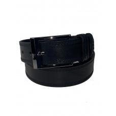 На фото 1 - Мужской кожаный ремень, от 105 до 125 см, цвет чёрный