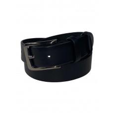 На фото 1 - Чёрный кожаный мужской ремень, от 125 до 130 см