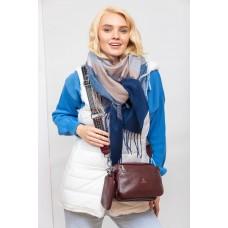 На фото 1 - Женская сумка кросс-боди из искусственной кожи, цвет бордовый