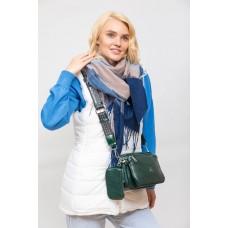 На фото 1 - Женская сумка кросс-боди из искусственной кожи, цвет шоколад