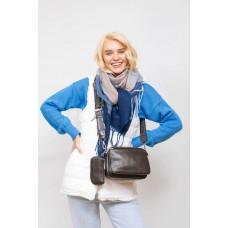 На фото 1 - Женская сумка кросс-боди из искусственной кожи, цвет зеленый