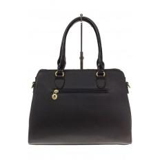 На фото 3 - Классическая сумка из искусственной кожи, цвет черный