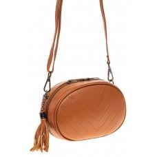 На фото 1 - Круглая сумка-малышка из натуральной кожи, ...