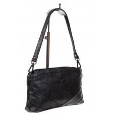 На фото 1 - Маленькая чёрная сумка из экокожи