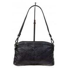 На фото 2 - Маленькая чёрная сумка из экокожи