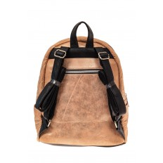 На фото 2 - Молодежный текстильный рюкзак, цвет бежевый хамелеон