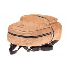 На фото 3 - Молодежный текстильный рюкзак, цвет бежевый хамелеон
