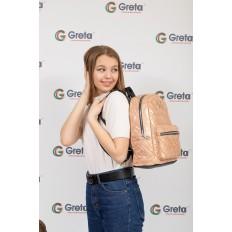 На фото 4 - Молодежный текстильный рюкзак, цвет бежевый хамелеон