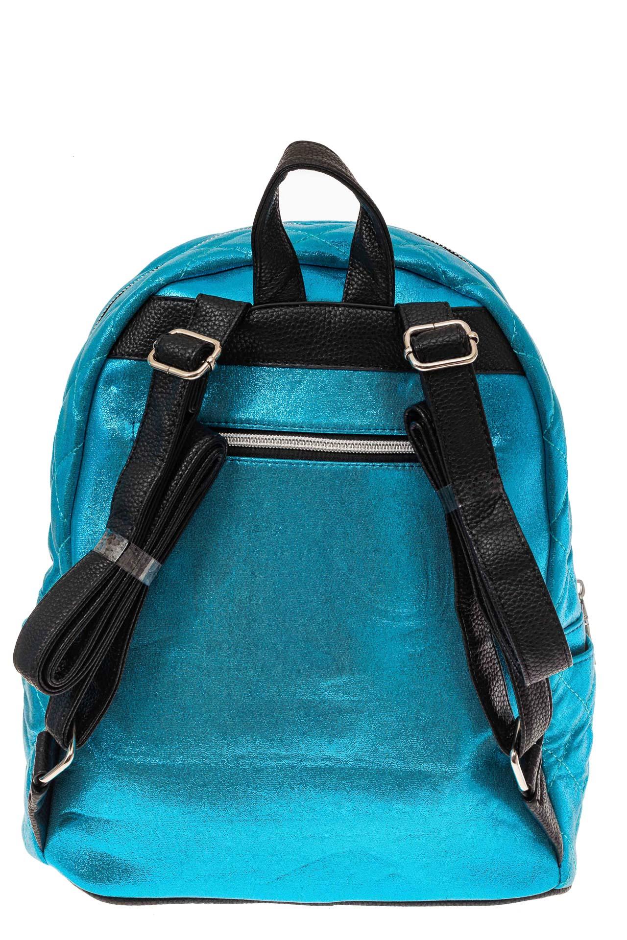 На фото 2 - Молодежный текстильный рюкзак, цвет голубой хамелеон