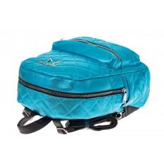 На фото 3 - Молодежный текстильный рюкзак, цвет голубой хамелеон