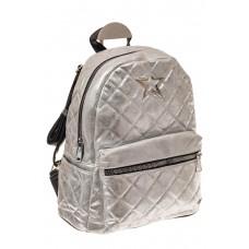 На фото 1 - Молодежный текстильный рюкзак, цвет серебри...
