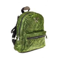 На фото 1 - Молодежный текстильный рюкзак, цвет зеленый хамелеон