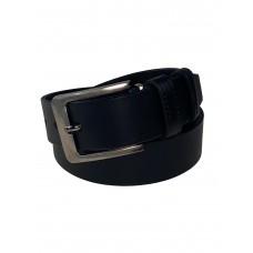 На фото 1 - Кожаный мужской ремень, 105-130 см, цвет чёрный