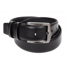На фото 1 - Кожаный ремень мужской, от 115 до 130 см, черный