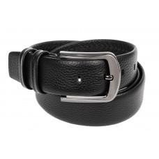 На фото 1 - Кожаный ремень мужской, длина от 115 до 135 см, цвет черный