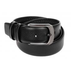 На фото 1 - Кожаный ремень мужской, от 115 до 135 см, черный