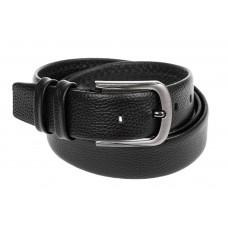 На фото 1 - Кожаный ремень мужской, длина от 115 до 140 см, цвет черный