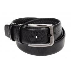На фото 1 - Кожаный ремень мужской, длина от 120 до 140 см, цвет черный