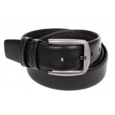 На фото 1 - Кожаный ремень мужской, длина от 110 до 140 см, цвет черный
