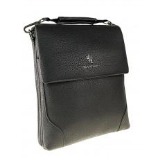 На фото 1 - Сумка-планшет из фактурной натуральной кожи, цвет черный