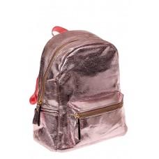 На фото 1 - Молодежный рюкзак из искусственной кожи, цвет розовый