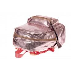 На фото 3 - Молодежный рюкзак из искусственной кожи, цвет розовый