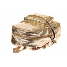 На фото 3 - Молодежный рюкзак из искусственной кожи, цвет золотой