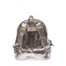 На фото 2 - Молодежный рюкзак из искусственной кожи, цвет серебро