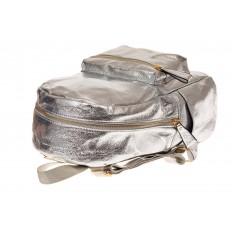На фото 3 - Молодежный рюкзак из искусственной кожи, цвет серебро