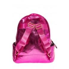 На фото 3 - Рюкзак цвета фуксия с металлическим отливом 25