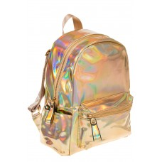 на фото Рюкзак золотистого цвета с металлическим отливом 25