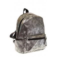 на фото Женский рюкзак из искусственной кожи серого цвета 025RJ5