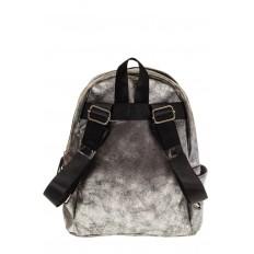На фото 3 - Женский рюкзак из искусственной кожи серого цвета 025RJ5