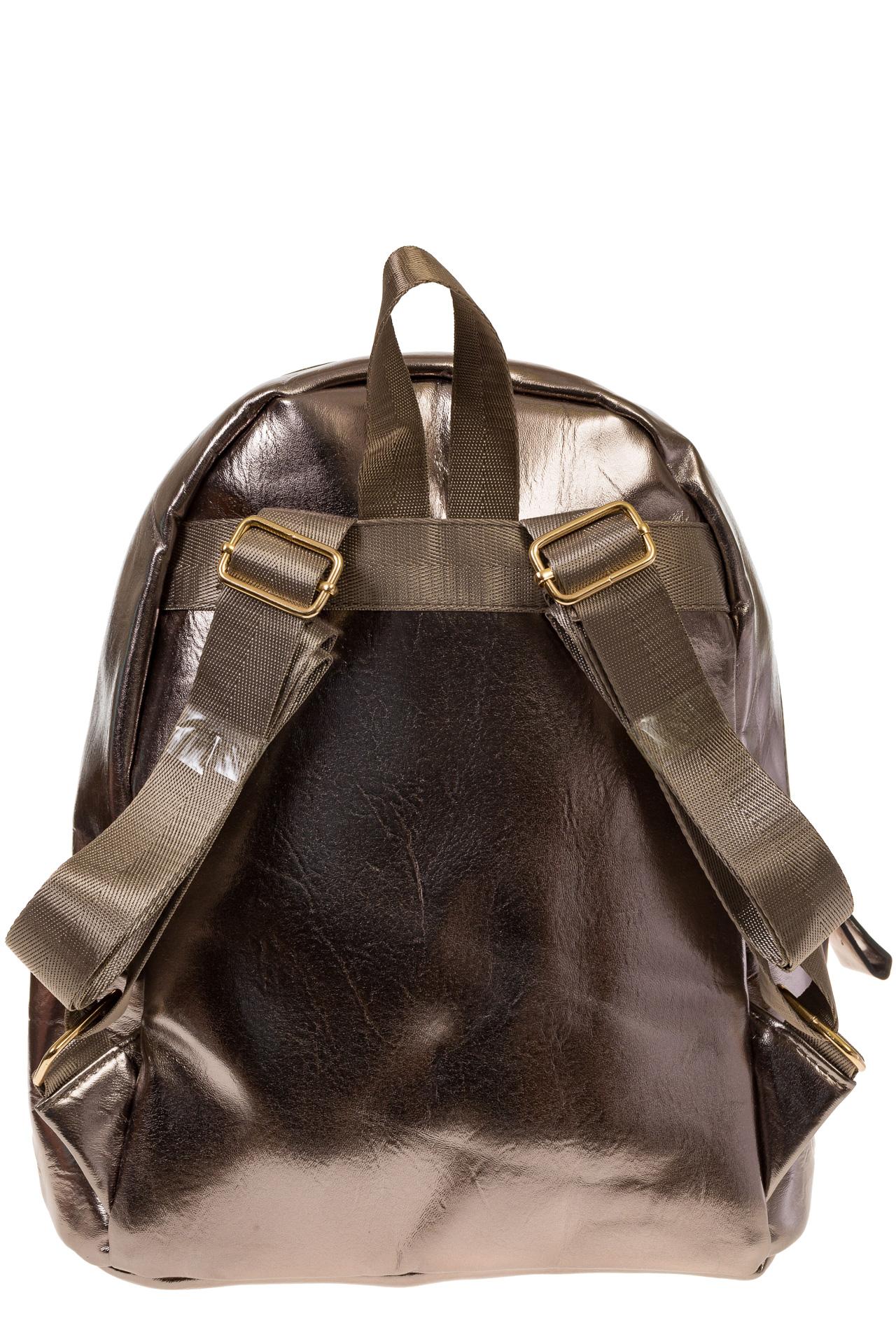 На фото 3 - Женский рюкзак из искусственной кожи бронзового цвета 025RJ5