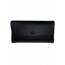 На фото 1 - Женское портмоне из искусственной кожи, цвет чёрный