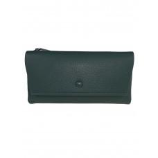 На фото 1 - Женское портмоне из искусственной кожи, цвет бледно-бирюзовый